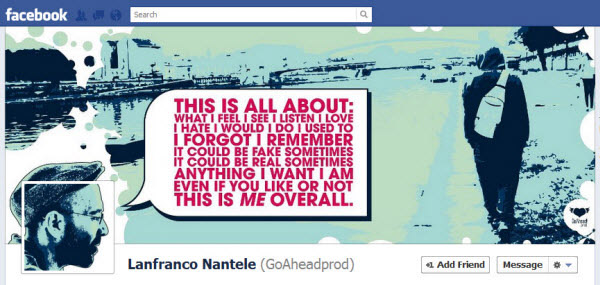lanfranco nantele1 30 Creative Examples of Facebook Timeline Cover Designs #2