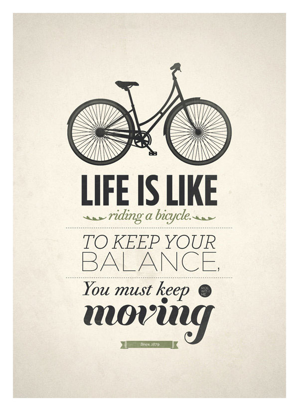 life is like a bike1 40 Remarkable Examples Of Typography Design #8
