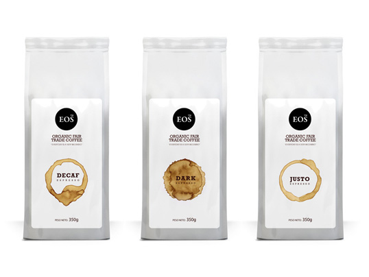lovely package eos coffee11 30 Stimulating & Creative Coffee Packaging Designs