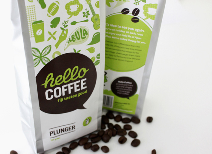 lovely package hello coffee11 30 Stimulating & Creative Coffee Packaging Designs