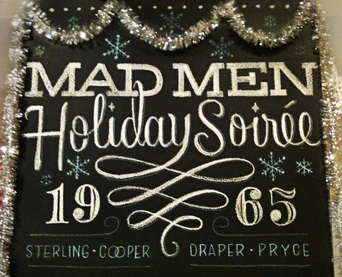 mad men Hand Lettered Chalk Typography By Dana Tanamachi