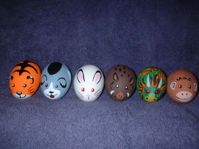more zodiac easter eggs1 30 Creative Examples of Easter Egg Designs