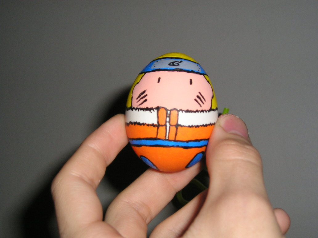 naruto egg by gotenson1 30 Creative Examples of Easter Egg Designs