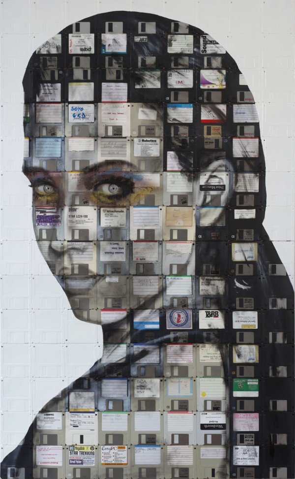 nick 1 600x9731 Floppy Disk Portraits by Nick Gentry