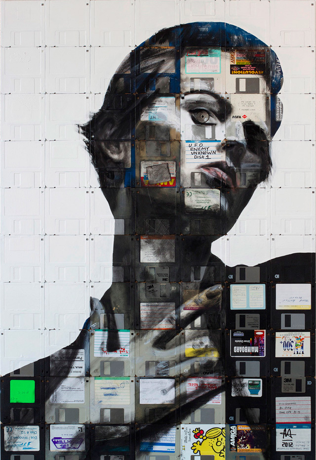 nick 21 Floppy Disk Portraits by Nick Gentry