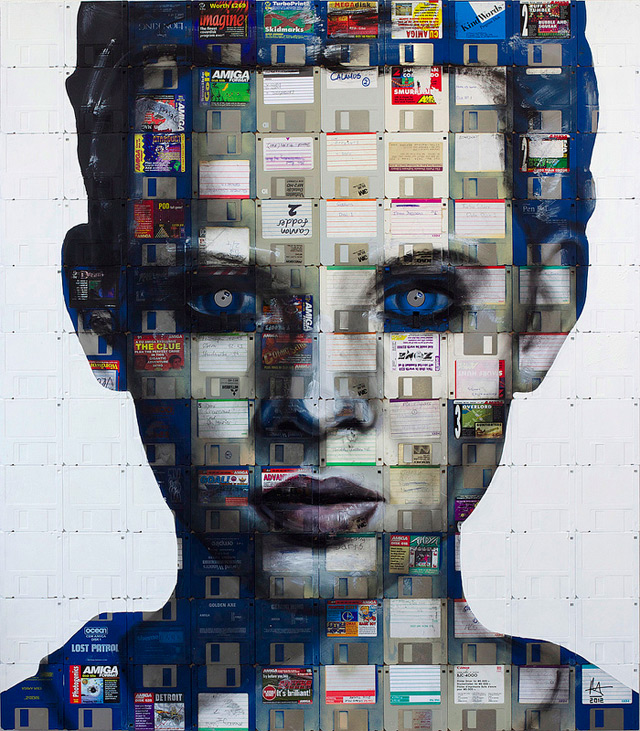 nick 31 Floppy Disk Portraits by Nick Gentry