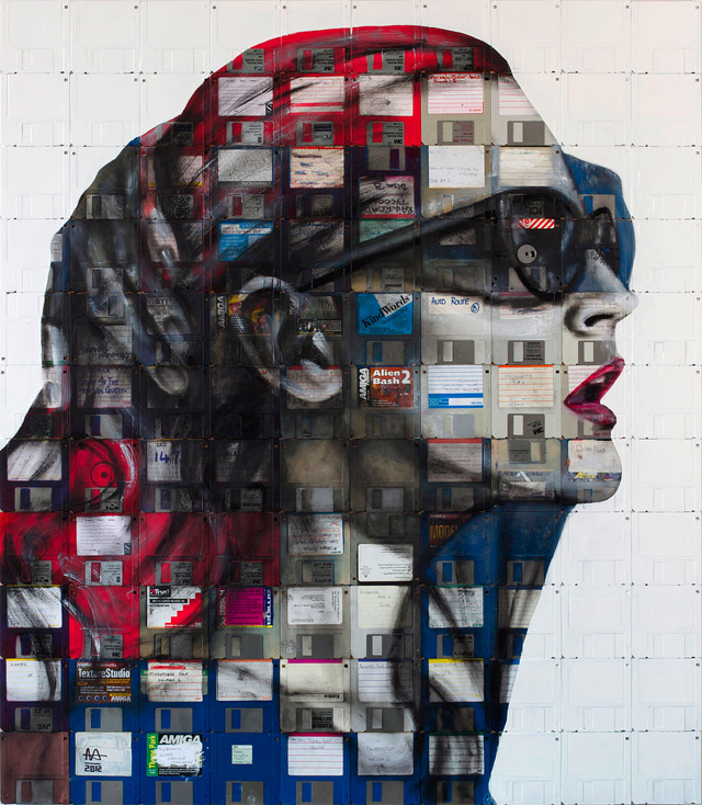 nick 51 Floppy Disk Portraits by Nick Gentry