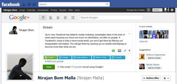 nirajan bom malla1 30 Creative Examples of Facebook Timeline Cover Designs #2