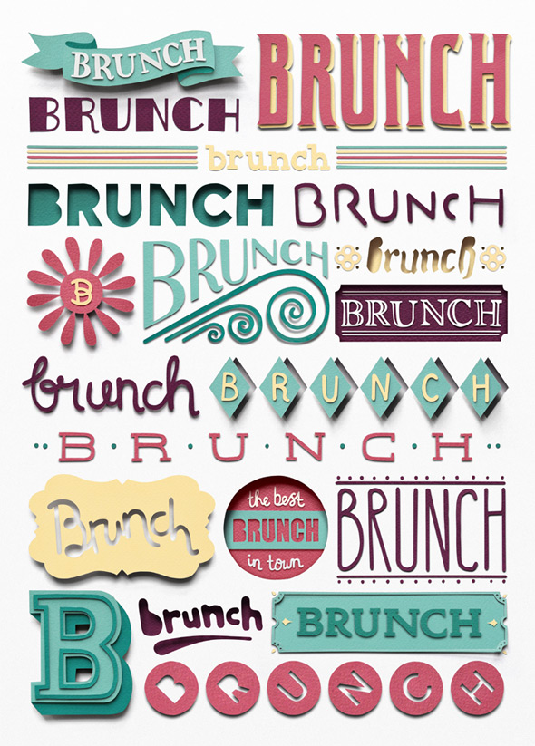 owengildersleeve brunch11 40 Remarkable Examples Of Typography Design #8