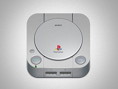 playstation one1 50 Most Incredible Examples of Icon Design #2