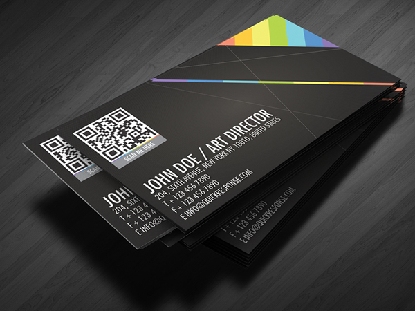 25 impressive examples of qr code business cards inspirationfeed quick response business card design colourmoves