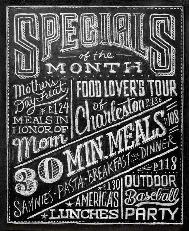 specials Hand Lettered Chalk Typography By Dana Tanamachi