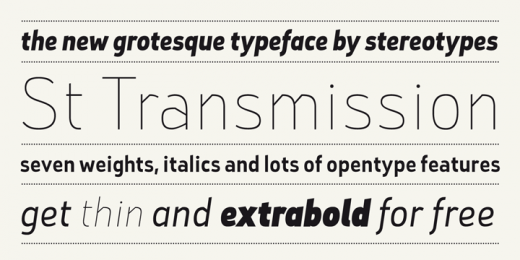 st transmission 200 520x2601 30 Fresh Free Fonts for Your Designs