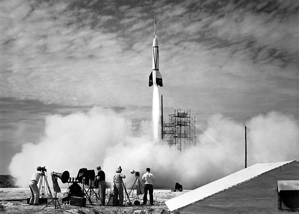 the first rocket launch from cape canaveral 19501 25 Outstanding Examples of Machine Photography