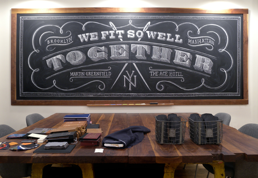 together so well Hand Lettered Chalk Typography By Dana Tanamachi