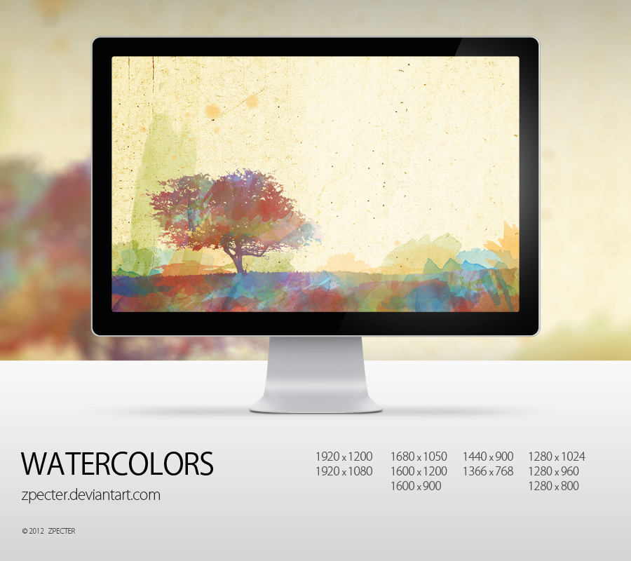 wallpaper 38 watercolors by zpecter d2v113n1 20 Effectual HD Desktop Wallpapers from deviantART