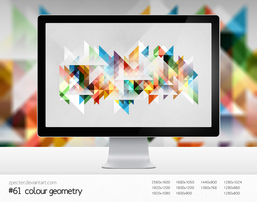 wallpaper 61 colour geometry by zpecter d3i4sd81 20 Effectual HD Desktop Wallpapers from deviantART