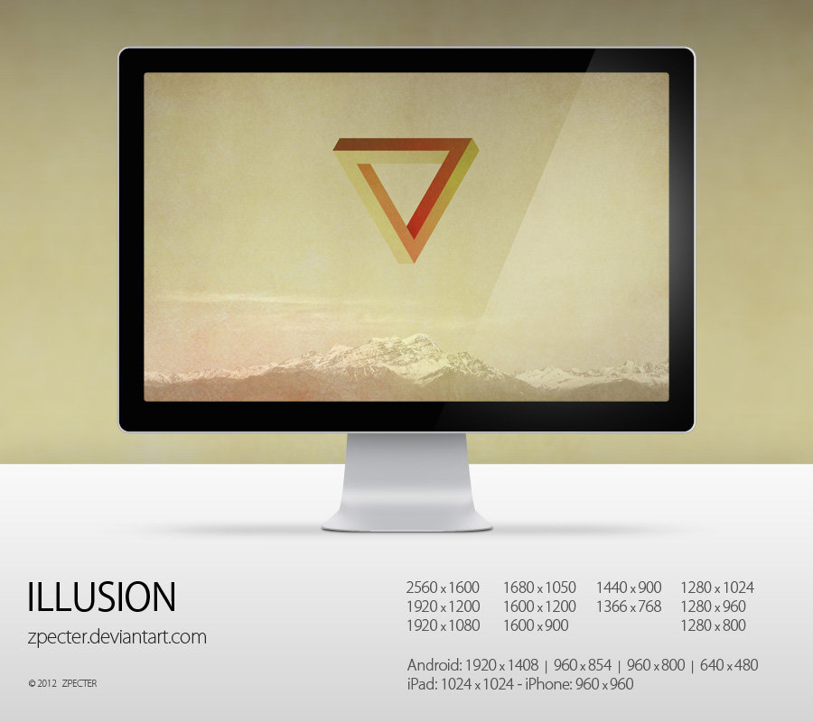 wallpaper 73 illusion by zpecter d4pt29a1 20 Effectual HD Desktop Wallpapers from deviantART