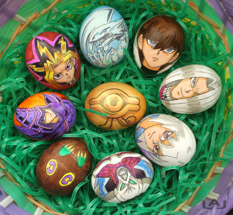 yu gi oh eggs by red flare d3emu6w1 30 Creative Examples of Easter Egg Designs