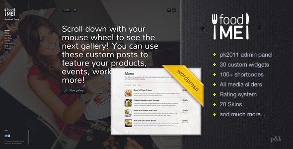 011 25+ Premium Food Based WordPress Themes