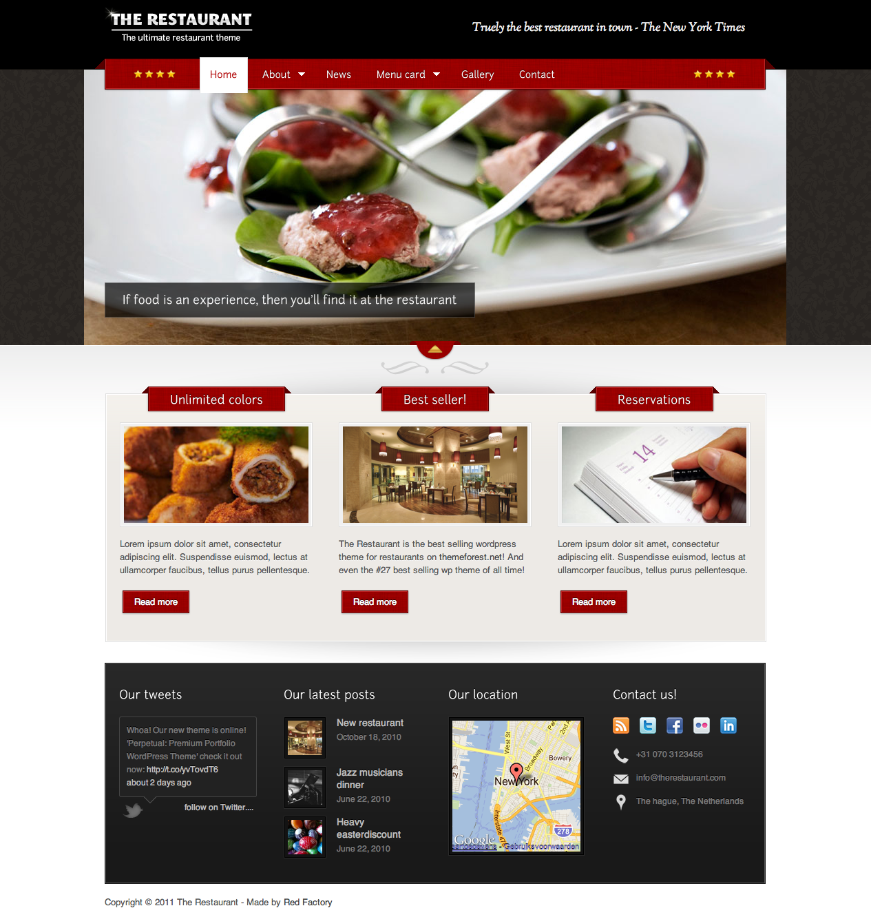 02 frontpage1 25+ Premium Food Based WordPress Themes