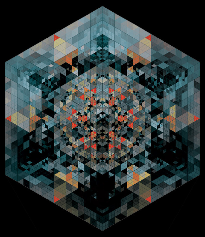 07 26 2011 Kaleidoscopic and Hypnotic Geometric Compositions by Andy Gilmore