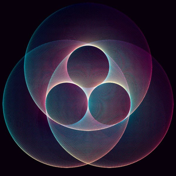 08 20 09 tri Kaleidoscopic and Hypnotic Geometric Compositions by Andy Gilmore