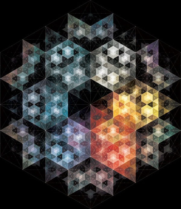 08 23 2011b Kaleidoscopic and Hypnotic Geometric Compositions by Andy Gilmore