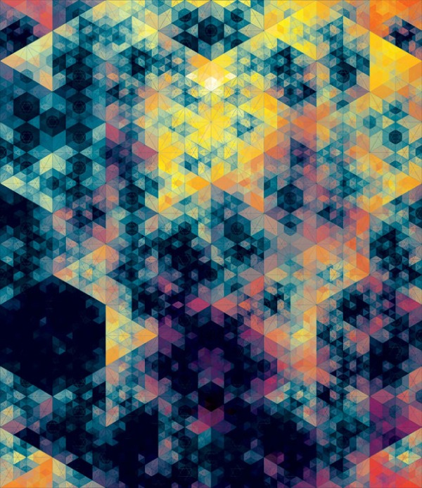 10 23 2011 Kaleidoscopic and Hypnotic Geometric Compositions by Andy Gilmore