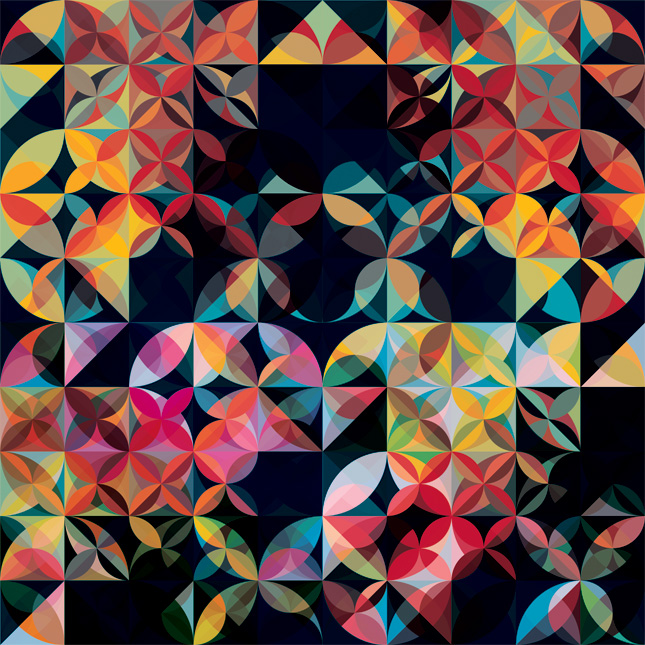 11 09 09 petals Kaleidoscopic and Hypnotic Geometric Compositions by Andy Gilmore
