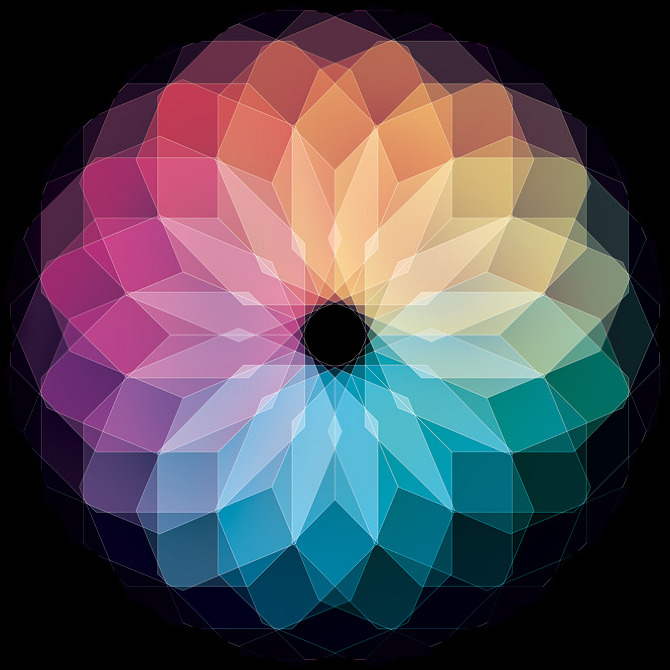 11 11 2011v2 Kaleidoscopic and Hypnotic Geometric Compositions by Andy Gilmore