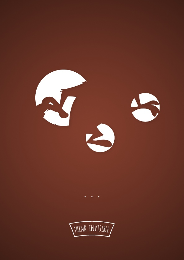 22194796828 Think Invisible: Negative Space Posters by Adri Bodor and Mark Szulyovszky