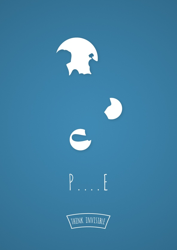 22328006160 Think Invisible: Negative Space Posters by Adri Bodor and Mark Szulyovszky