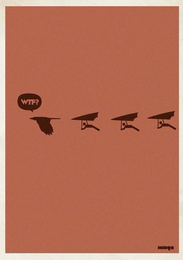 264f73138d7e7daa914077a30e15eb59 Cleverly Hilarious WTF Posters By Estudio Minga
