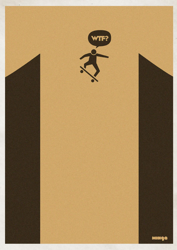 5ea352590b9aa95f1c38c176595596f2 Cleverly Hilarious WTF Posters By Estudio Minga