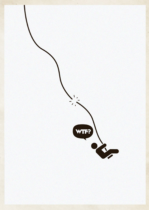 6439ef5592aaec1ea30c4bb6247595b2 Cleverly Hilarious WTF Posters By Estudio Minga