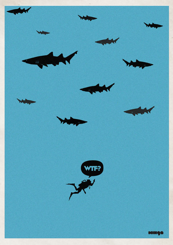 64f855904452db18197e0d38464d95f5 Cleverly Hilarious WTF Posters By Estudio Minga