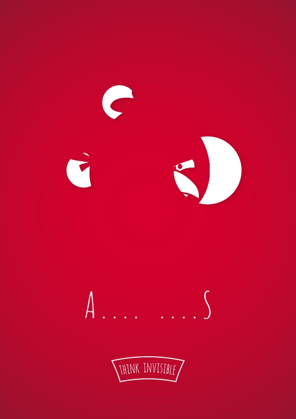 a Think Invisible: Negative Space Posters by Adri Bodor and Mark Szulyovszky