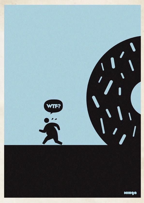 a6415f0e10cb941863a8368e0cc8d132 Cleverly Hilarious WTF Posters By Estudio Minga