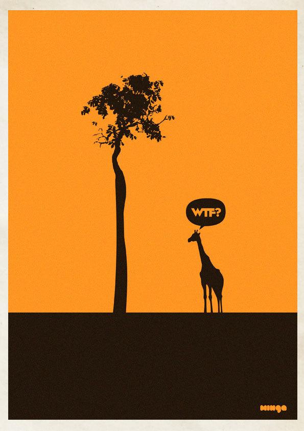 aa4b11c1addb9b4d4fcc431668bbadb5 Cleverly Hilarious WTF Posters By Estudio Minga