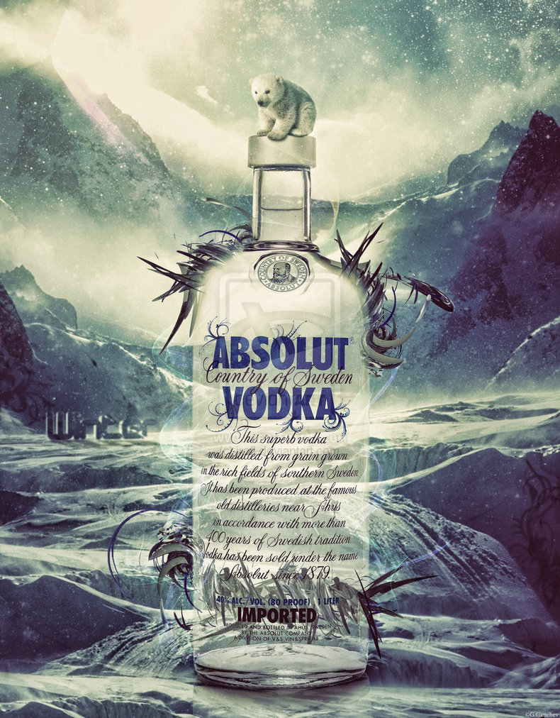 absolut vodka by irofl d48ftnf1 A World Icon: Absolut Vodka Advertisements and Designs