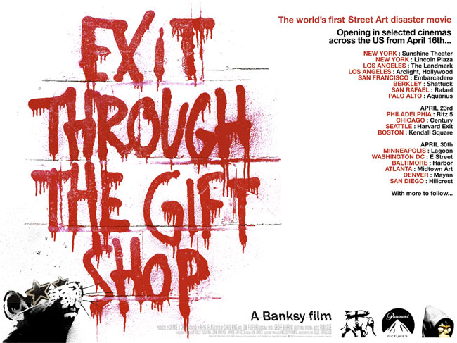 banksy gift shop1 Lucky 7: Must See Documentaries for Designers