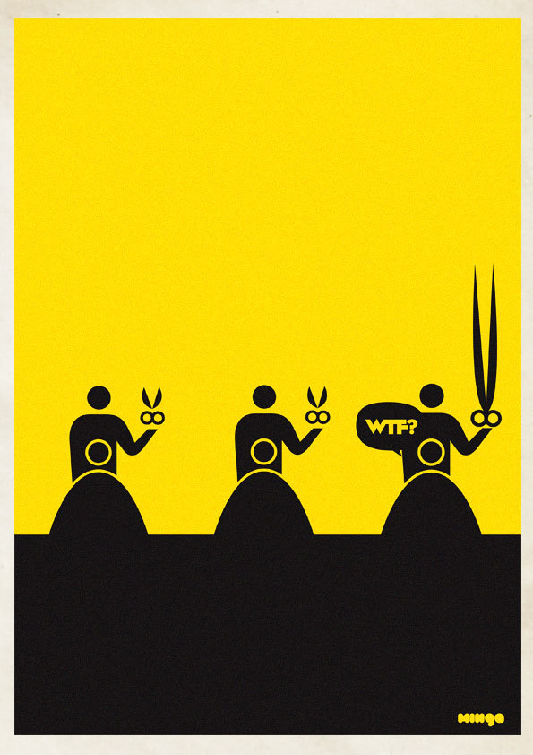 cc2a03cb7f14480d83707eab39711893 Cleverly Hilarious WTF Posters By Estudio Minga