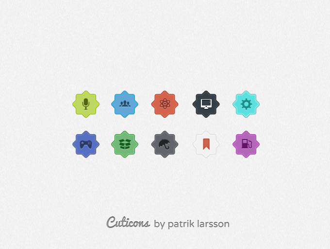 cuticons preview1 50 Stunning Pixel Perfect PSD Freebies #3