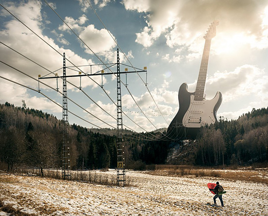 electric guitar l1 50 Visionary Examples of Creative Photography #9