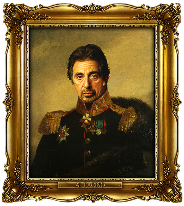 famous celebrities 19th century russian generals by george dawe al pacino 1 Celebrities Digitally Painted As Russian Generals
