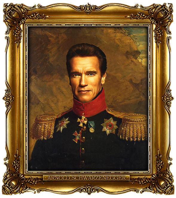 famous celebrities 19th century russian generals by george dawe arnold schwarzenegger 1 Celebrities Digitally Painted As Russian Generals