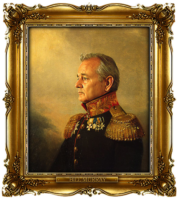 famous celebrities 19th century russian generals by george dawe bill murray 1 Celebrities Digitally Painted As Russian Generals