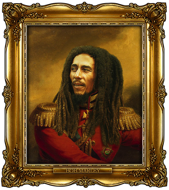 famous celebrities 19th century russian generals by george dawe bob marley 1 Celebrities Digitally Painted As Russian Generals