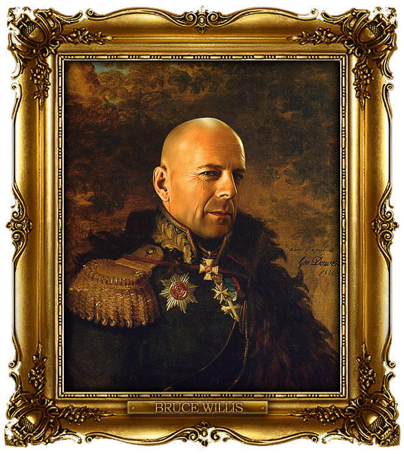 famous celebrities 19th century russian generals by george dawe bruce willis 1 Celebrities Digitally Painted As Russian Generals